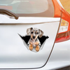 We Like Riding In Cars - Dapple Dachshund Car/ Door/ Fridge/ Laptop Sticker V1