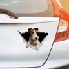 We Like Riding In Cars - Wire Fox Terrier Car Sticker V1
