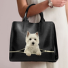 West Highland White Terrier Luxury Handbag V1