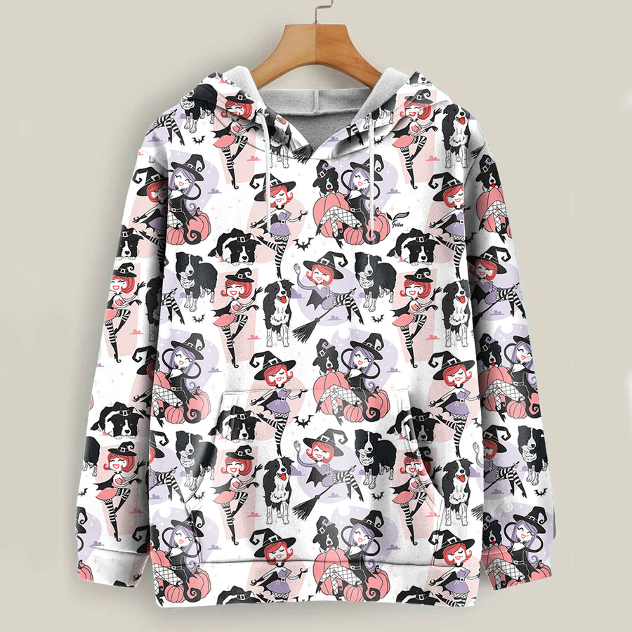 Witch Way To The Treats - Border Collie Halloween-hoodie