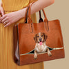 Your Best Companion - Brittany Spaniel Luxury Handbag V1
