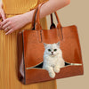 Your Best Companion - Persian Chinchilla Cat Luxury Handbag V1