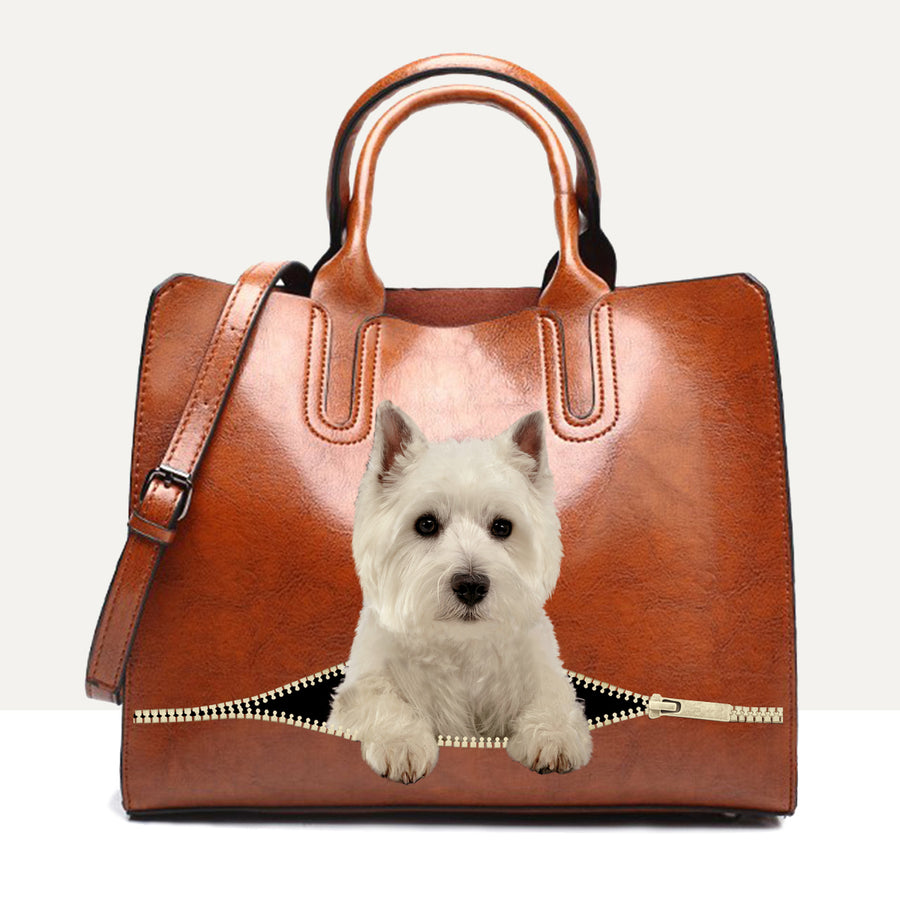Your Best Companion - West Highland White Terrier luxe handtas V1