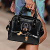Dachshund Shoulder Handbag V2