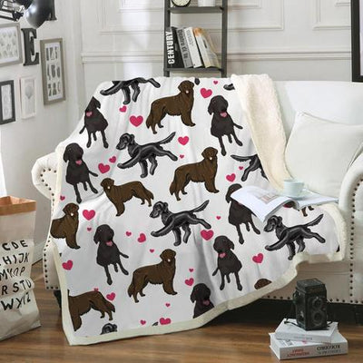 Flat Coated Retriever Blanket V1