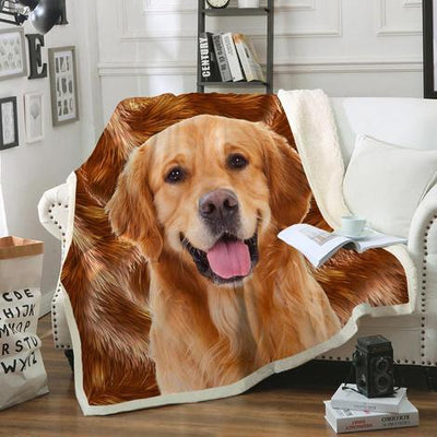 Golden Retriever Blanket V2