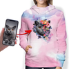 Beautiful Flowers - Personalized Hoodie With Your Pet's Photo V2