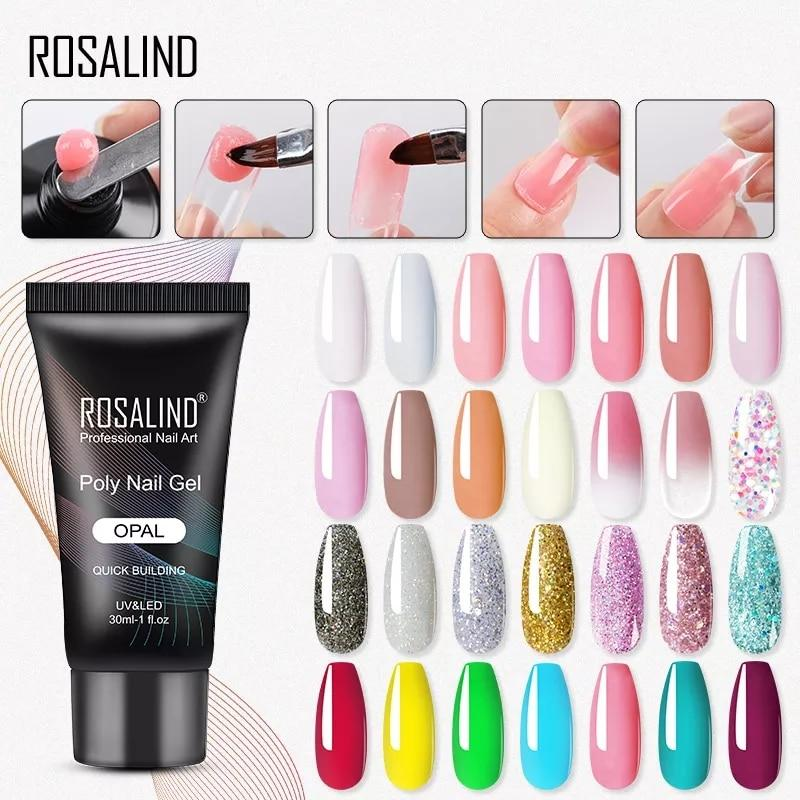 ROSALIND Poly UV Gel Polish - Love Your Nails NUDE COLOR