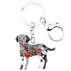 Colorful Labrador Key Chain