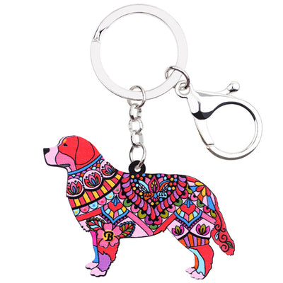 Bernese Mountain Key Chain