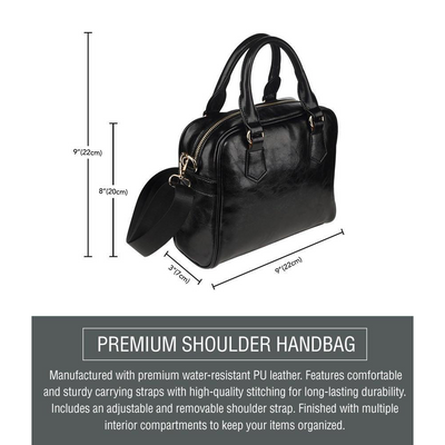 Border Collie Shoulder Handbag V2