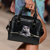 British Shorthair Cat Shoulder Handbag V1