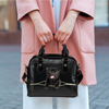 Black Pug Shoulder Handbag V4