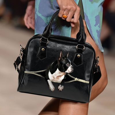 Boston Terrier Shoulder Handbag V2