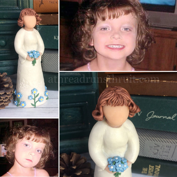 Custom Sculpture - Made From Your Photos - Polymer Clay Family Keepsake Figurine - DEPOSIT ONLY