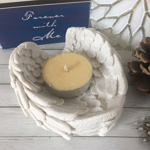 Angel Wings Memorial Candle Holder - Tealight Holder for Memory Candle