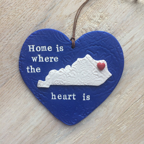 Home State Ornament - Home is Where the Heart Is - Housewarming & New Home Gift