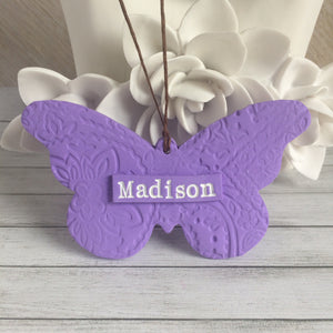 Butterfly Keepsake Ornament - Personalized Memorial Ornament for Loss of Loved One