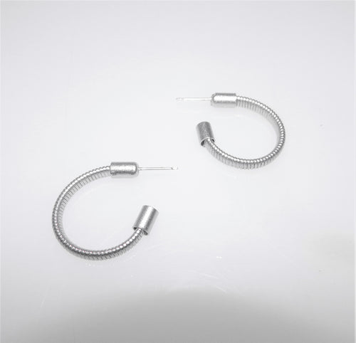 Small Silver Springwire Hoops