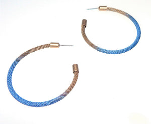 Blue Ombre Hoop Earrings