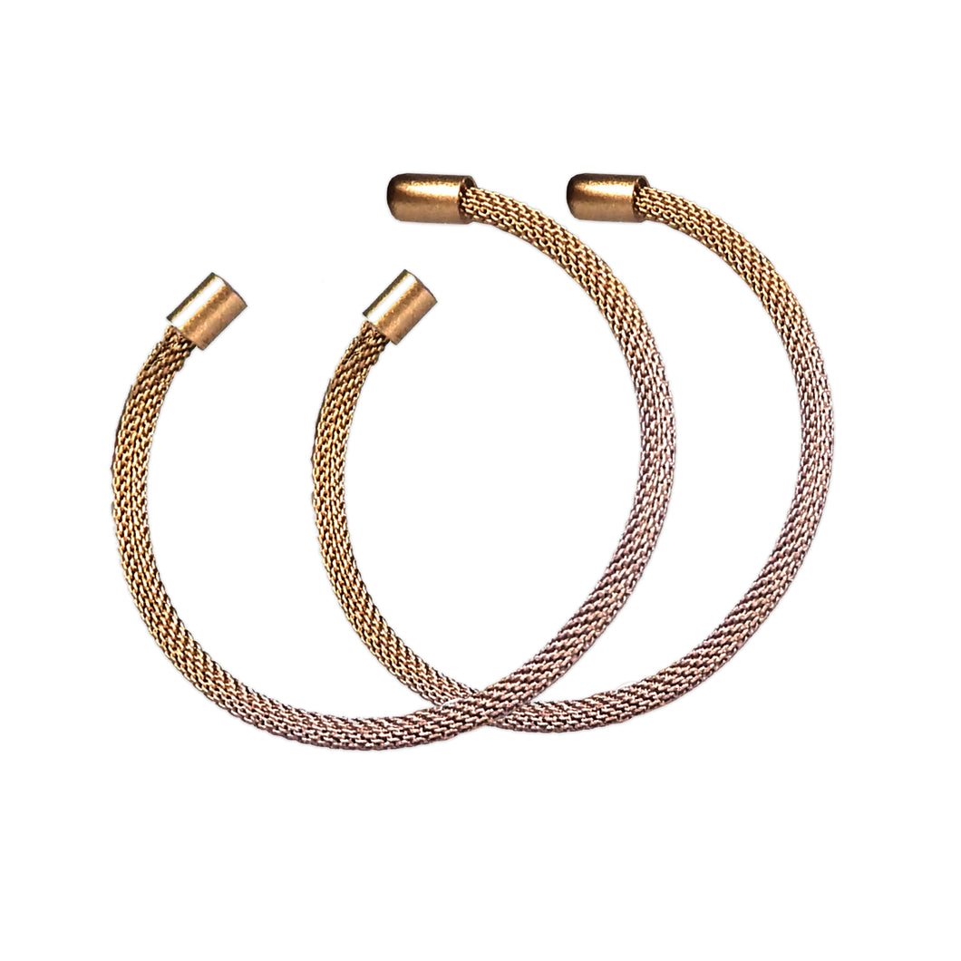 Blush Ombre Hoop Earrings