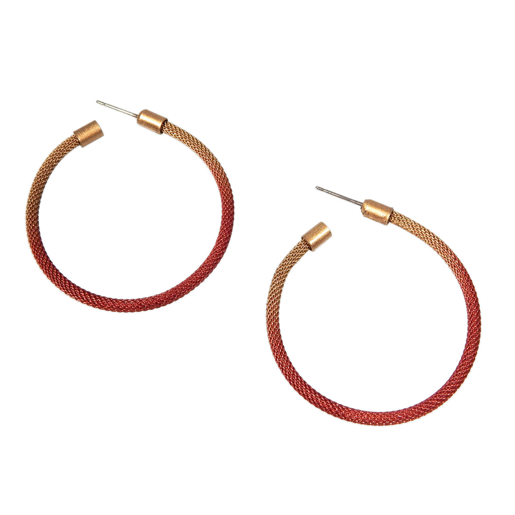 Ember Ombre Hoop Earrings