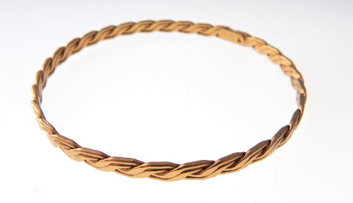 Gold Double Wire Bangle