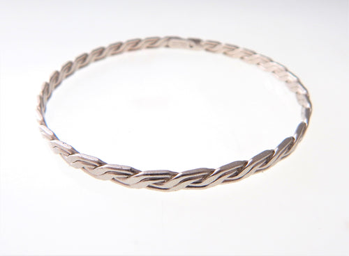 Silver Double Wire Bangle