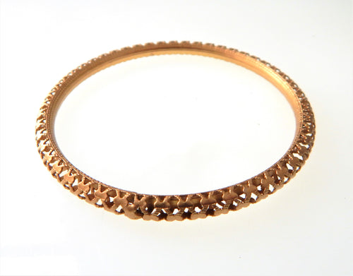 Gold Filigree Bangle