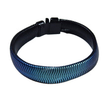 Load image into Gallery viewer, Single Fern Bracelet - Black & Blue Nebula