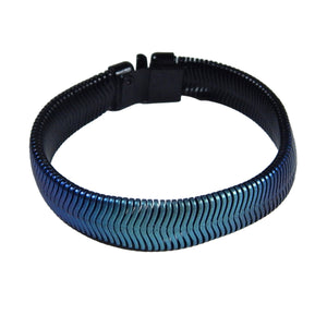 Single Fern Bracelet - Black & Blue Nebula