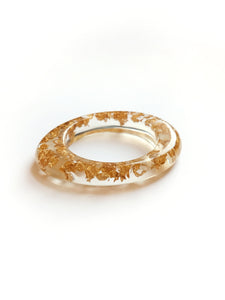 Gold Leaf Oval Cuff