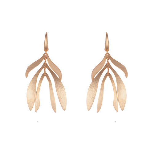 Small Bronze Willow Drop Earrings