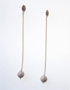 Silver Filigree Ball Earrings
