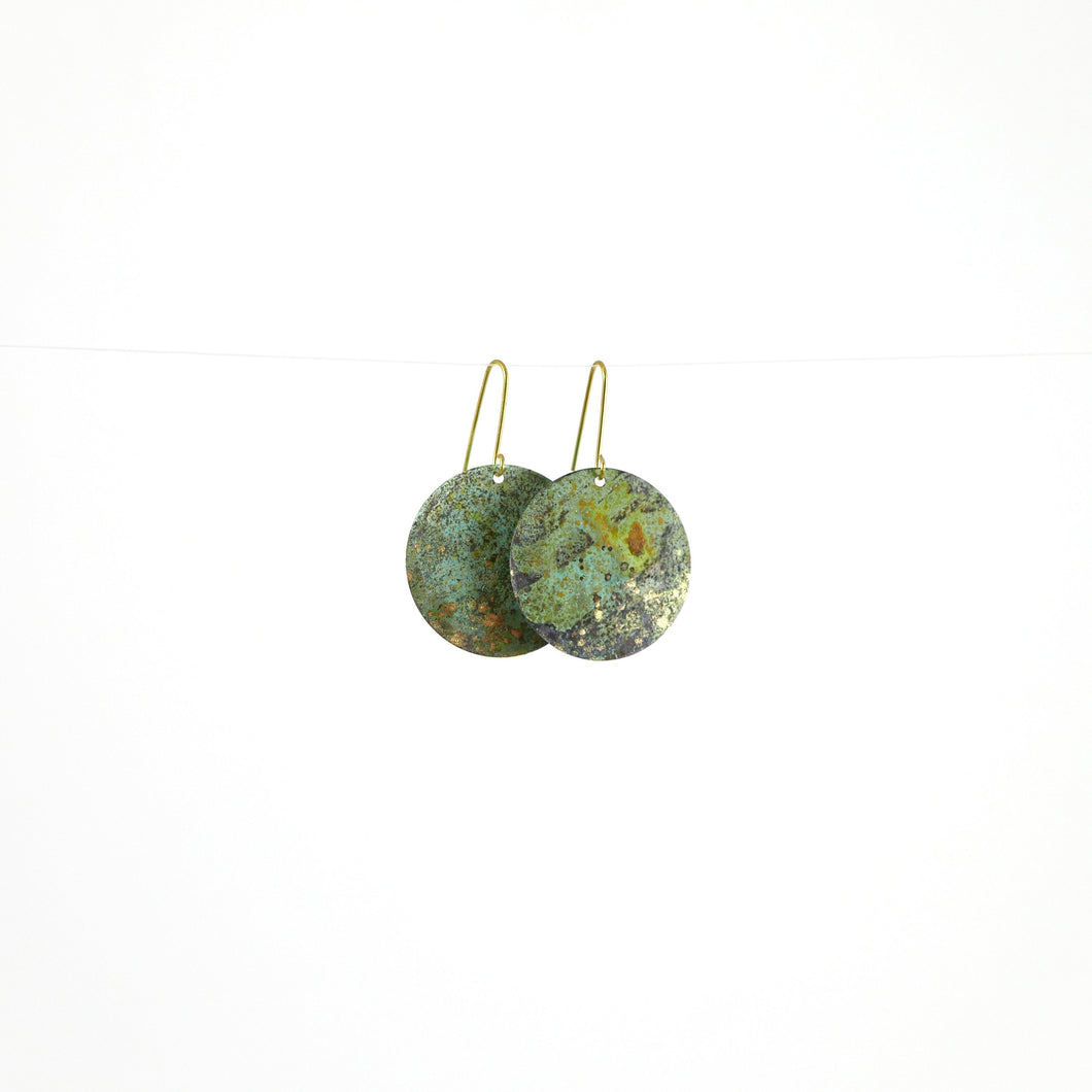Forest Disc Earrings