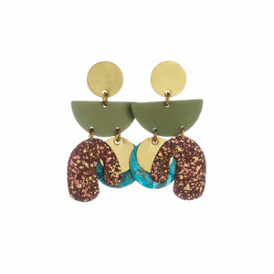 Amazonia Piba Abstract Earrings