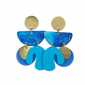 Ocean Patina Piba Abstract Earrings