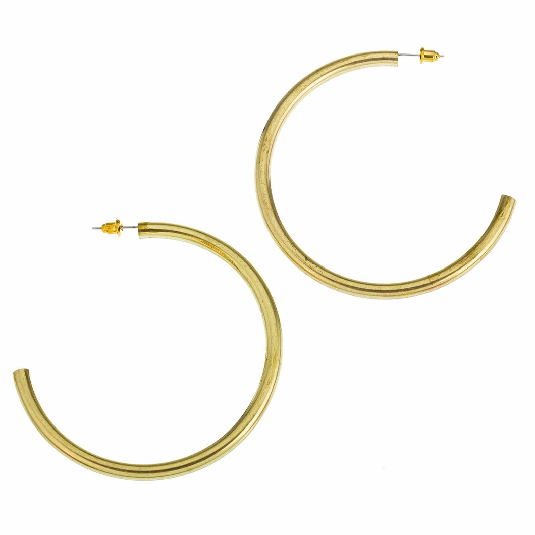 Brass Super Hoops