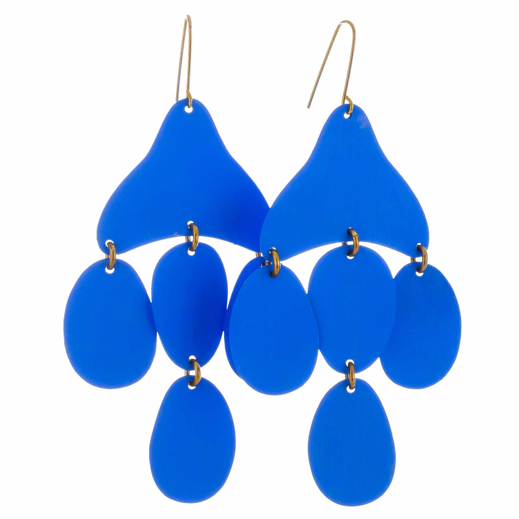 Cielo Blue Small Medusa Earrings