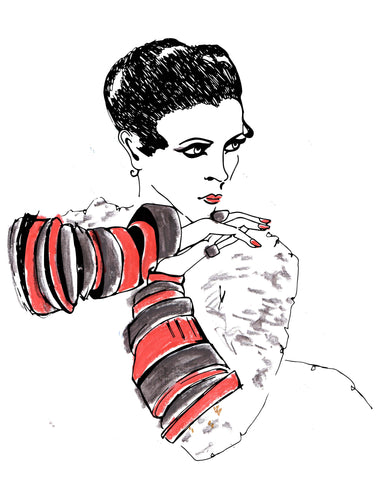 Nancy Cunard Print by Georgina Trestler