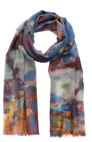 Painterly Abstract Scarf