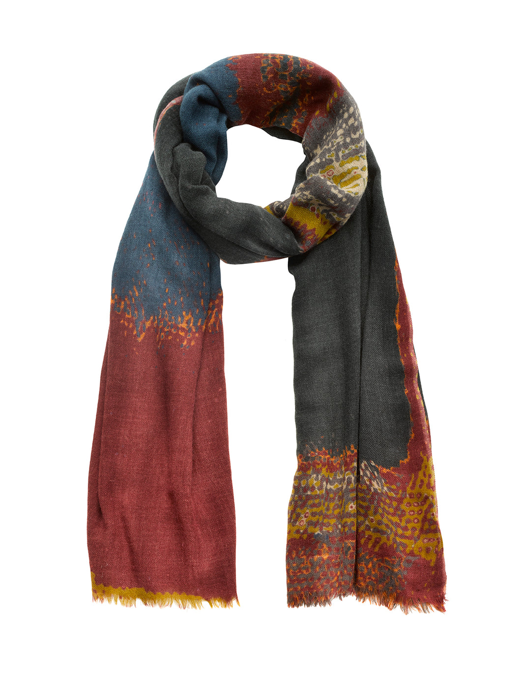 Rothko Patterned Scarf