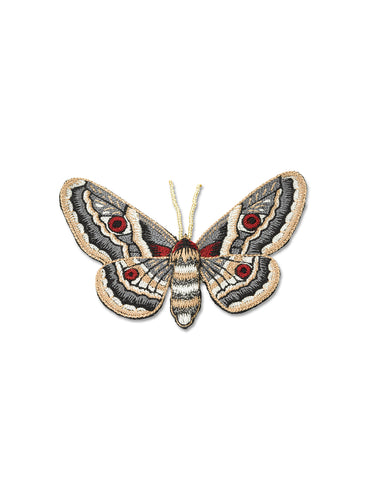 Grey & Cream Butterfly Brooch