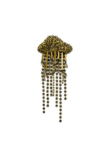 Black & Gold Jellyfish Brooch