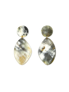 Oblong Horn Drop Earrings