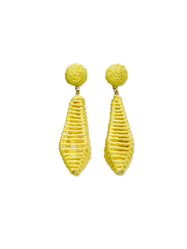 Yellow Cage Diamond Drop Earrings