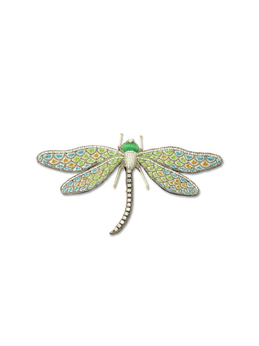 Blue & Green Dragonfly Brooch