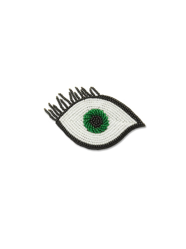 Green Eye Brooch