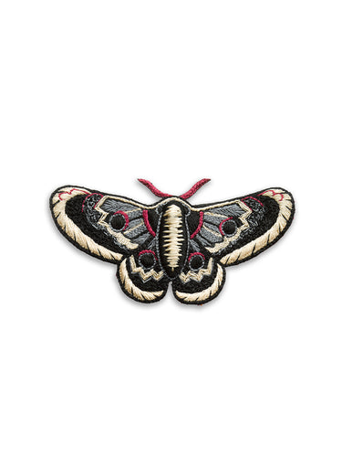 Black & Cream Moth Brooch