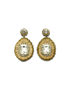 Champagne Central Stone Earrings